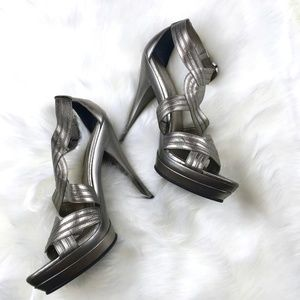 Aldo Shoes - Aldo | Metallic Leather Platform High Heel 8